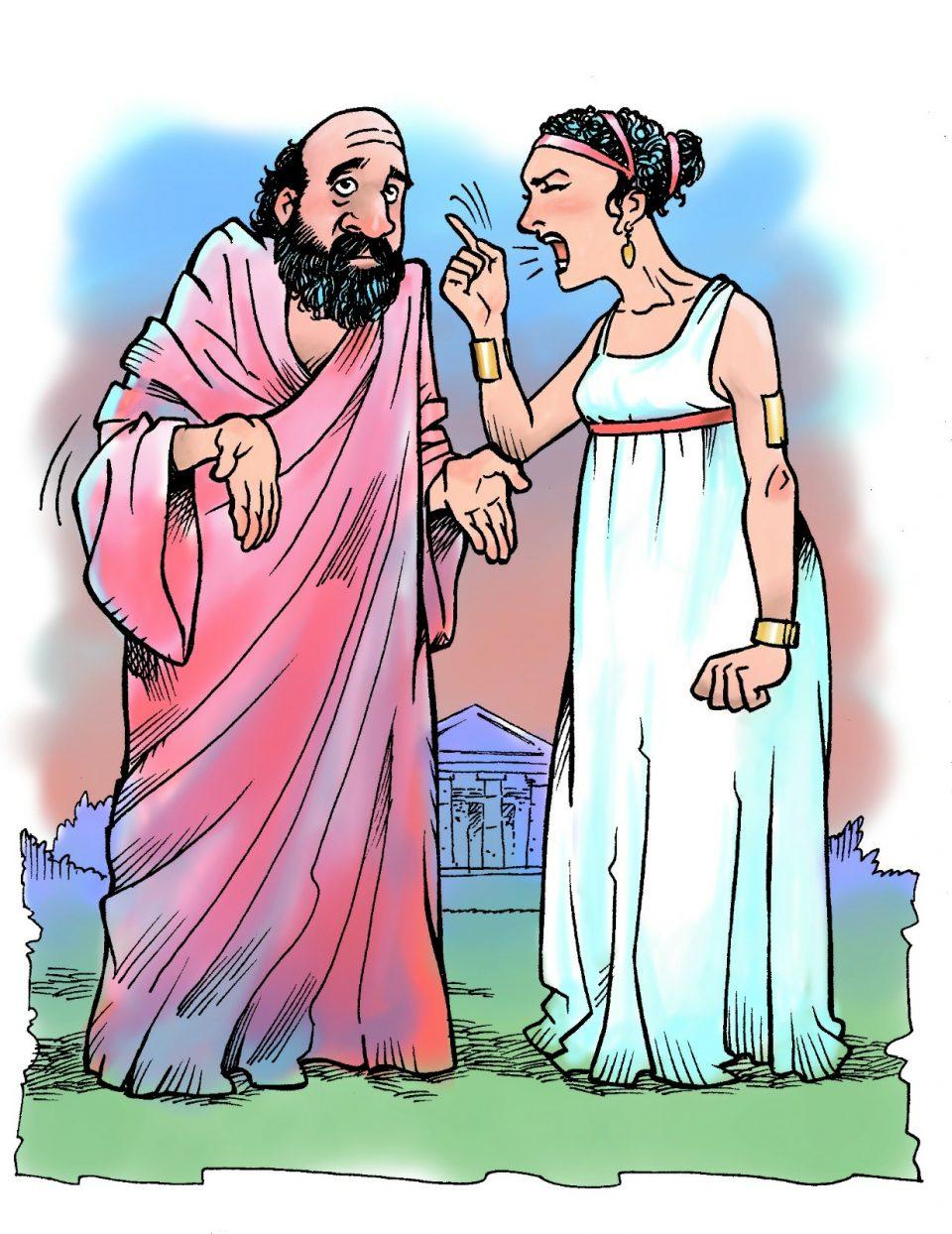 Socrate e Santippe