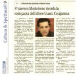 FRANCESCO MONTELEONE RICORDA LA SCOMPARSA DELL'ATTORE GIANNI COLAJEMMA
