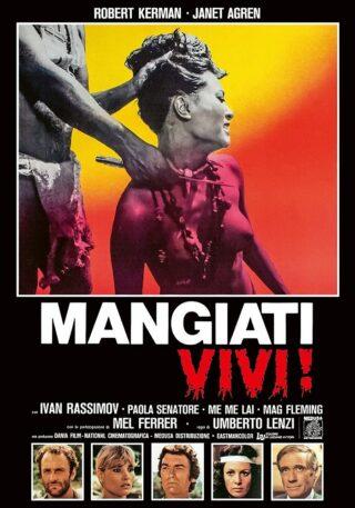 """Locandina del cannibal movie """"Mangiati vivi"""""""